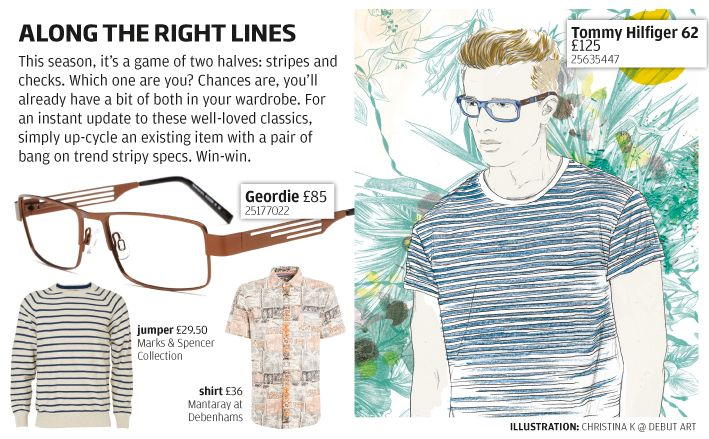 Along the right lines - stripes showcased for subtle summer looks.