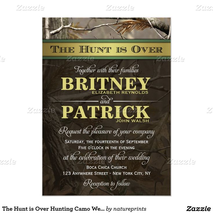 661 best wedding winter invitations images on pinterest the hunt is over hunting camo wedding invitations stopboris Image collections