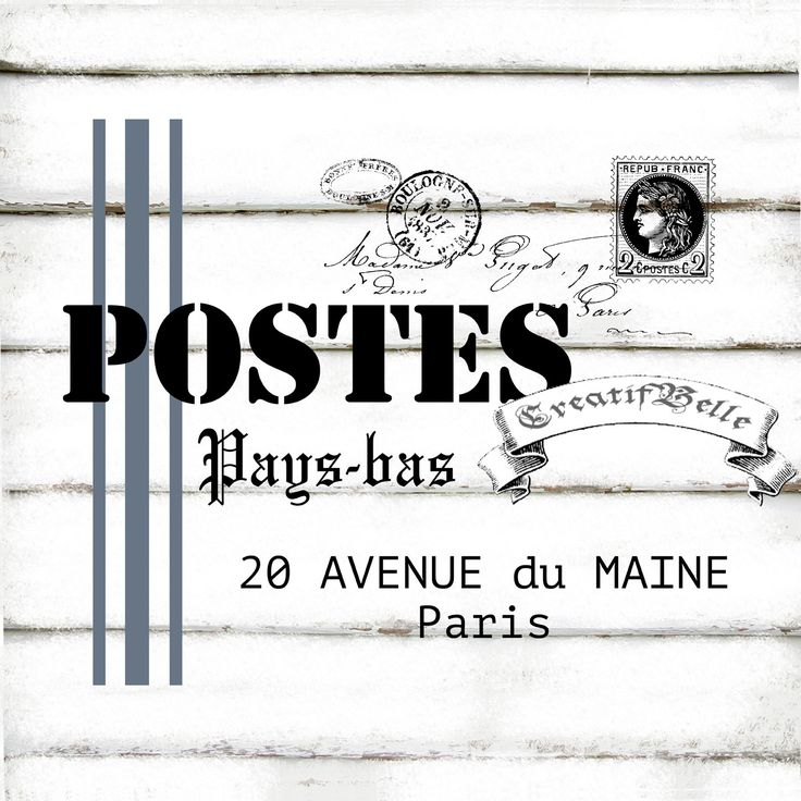 French Vintage Post Grain Sack A4 Instant Digital by CreatifBelle