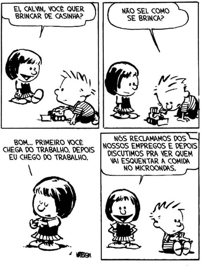 Calvin e Susie | Brincar de casinha