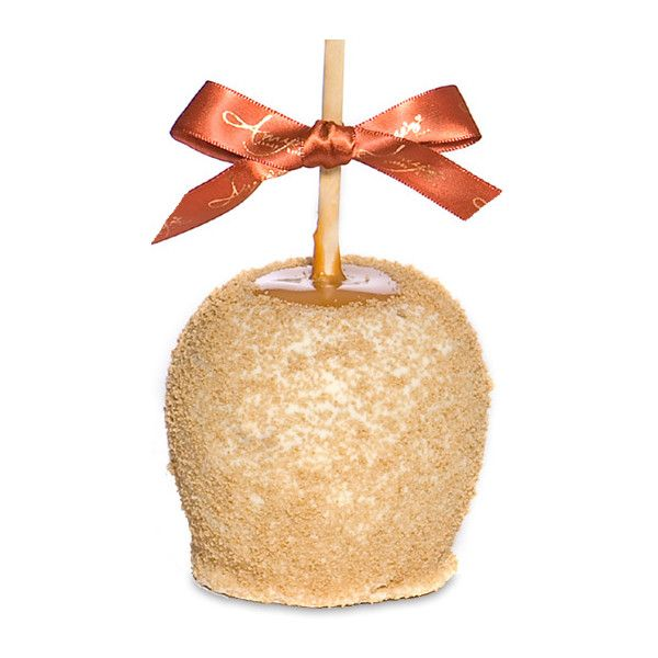 Apple Pie Caramel Apple W/Belgian Chocolate by None, via Polyvore #thanksgiving #favors #treats #caramel #apples