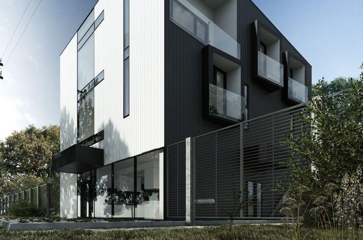 Современный кубический Showroom — архитектурный дизайн-проект дома в стиле Loft in Barnaul
