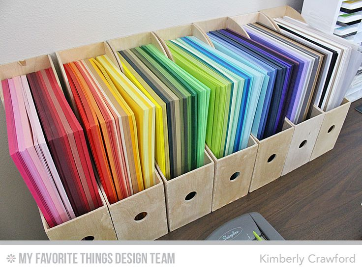 Card stock storage #mftstamps
