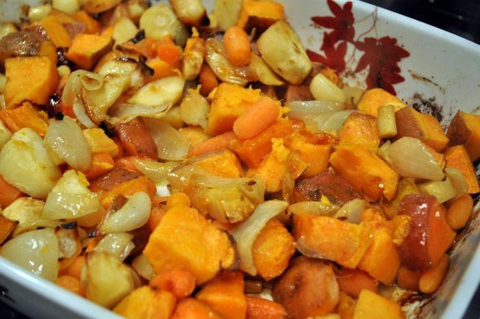 roasted vegetables herb roasted chicken and vegetables honey roasted ...