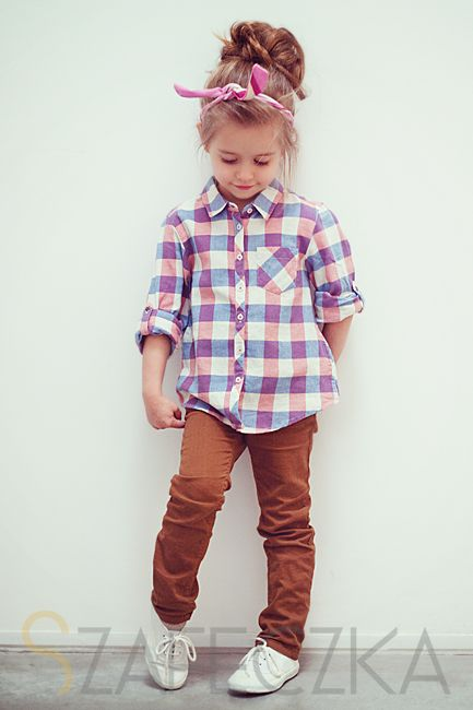 www.szafeczka.com #girl #kid #fashion plaid shirt