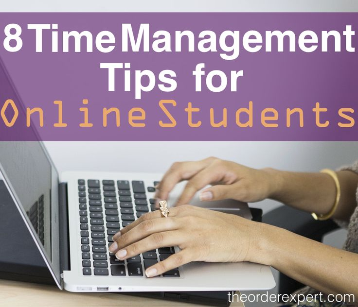 image of a woman typing, 8 Time Management Tips for Online Students