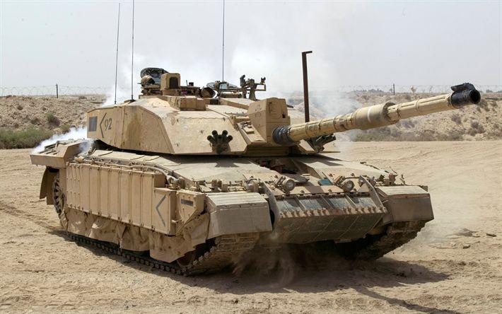 Download imagens Challenger II, Tanque de guerra, Tanques britânicos, modernos veículos blindados, deserto