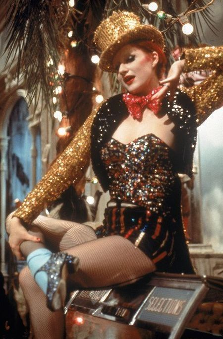 Nell Campbell's sparkling sequins in The Rocky Horror Picture Show.