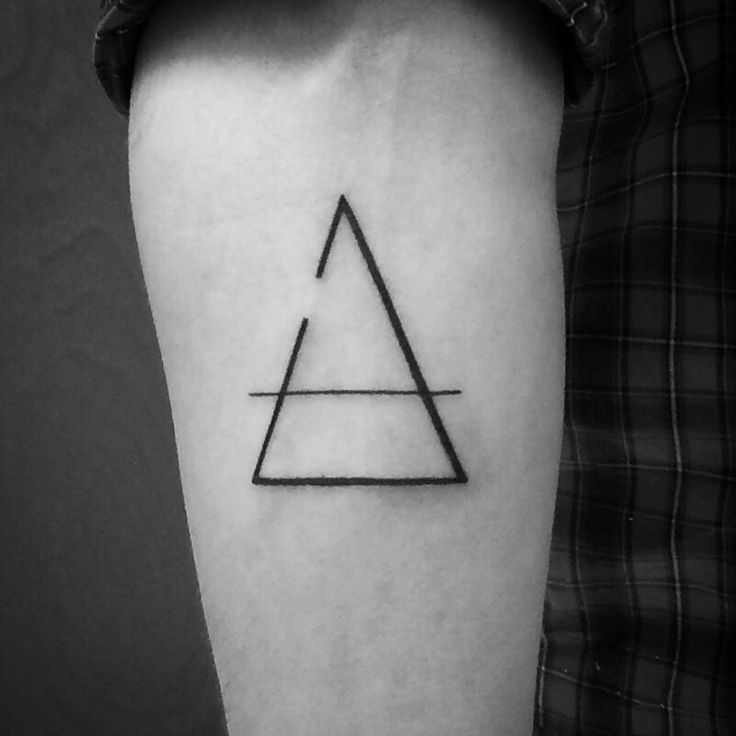 A combination of a glyph and a delta. Decided to make the design myself after I couldn't find what I was looking for on the Internet :) A big thank you to @xavier_darling over at Black Hole East, Portland, OR. #ink #tattoo #delta #glyph #transcend #change