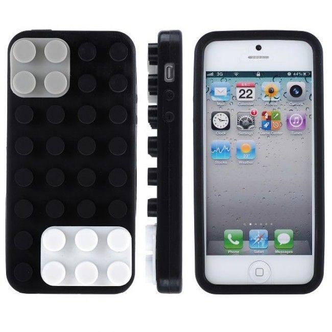 LAGOON (Musta) iPhone 5 Silikonisuojus - http://lux-case.fi/lagoon-musta-iphone-5-silikonisuojus.html