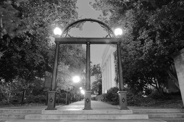 University Of Georgia Athens Steel Arches UGA Black & White Vinyl Print