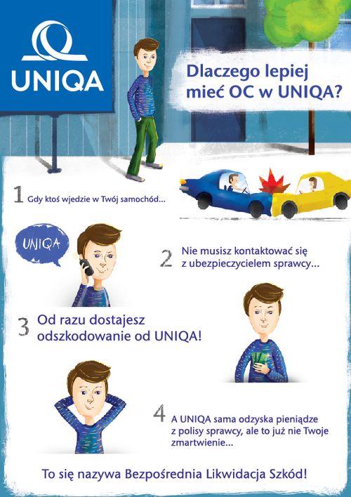 — Plakat dla firmy UNIQA do kampanii Bezpośrednia...