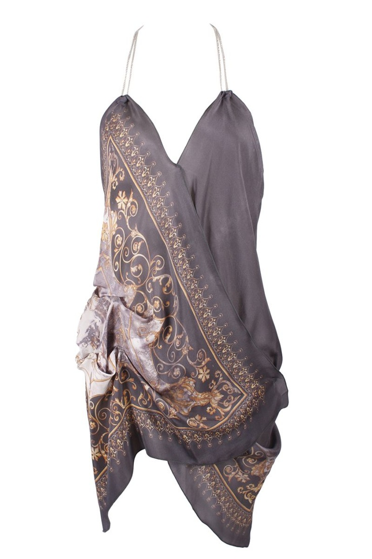 Make this using a silk scarf/wrap
