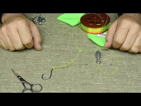 How to Tie a Ghost Leader Circle For Catfish - DIY- Fishing Tips - Vòng dây Ma Quái - YouTube
