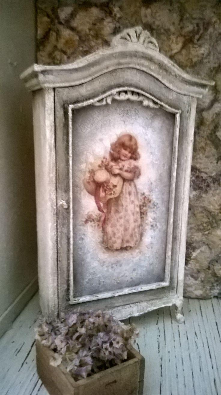 Miniature dollhouse WARDRODE Shabby Chic Style - Armadio stile Shabby di…