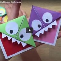 This make your own bookmark tutorial video is so simple to follow and could be adapted to make whatever 'face' you wanted to do.