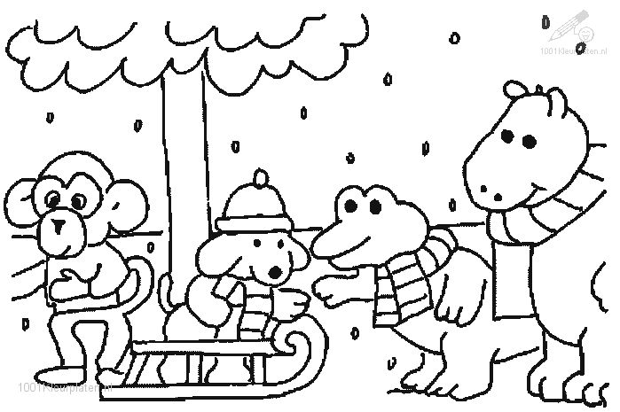 10 Best Images About Coloring Pages Winter / Summer / Fall