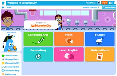 Fun Educational Games for Kids   e-Learning Resources for Teachers   EducationCity US   EducationCity US