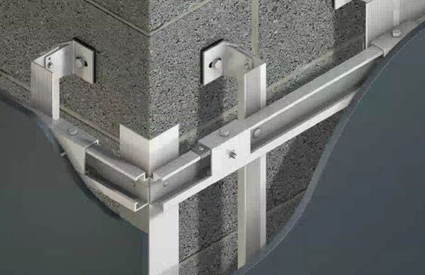 Mechanical Secret Fix Wall Cladding Fixing System With