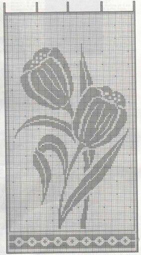 Filet crochet chart...