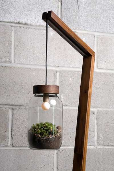 Homemade Light Fixture Ideas | Diy ideas, handmade lighting fixture with glass plant terrarium for ...