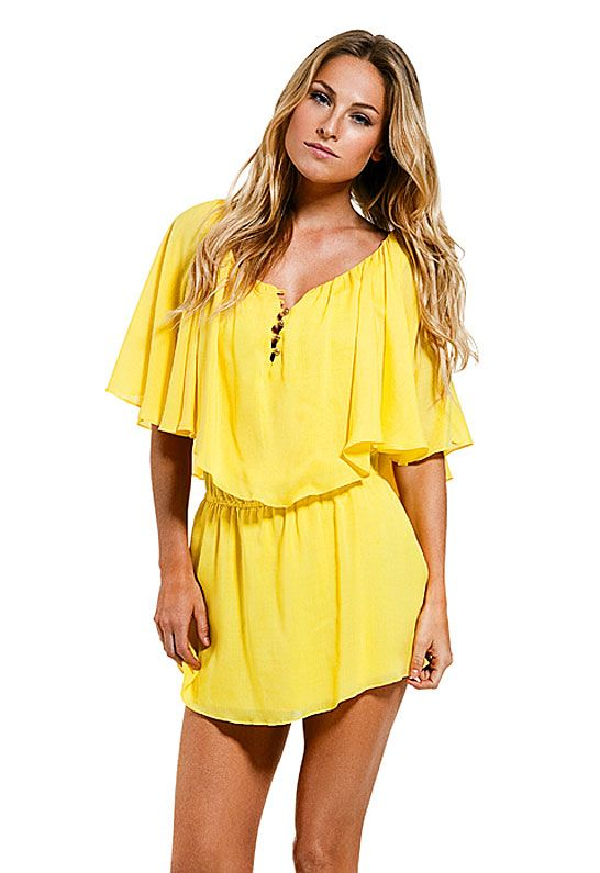 Country Style Yellow Summer Dresses