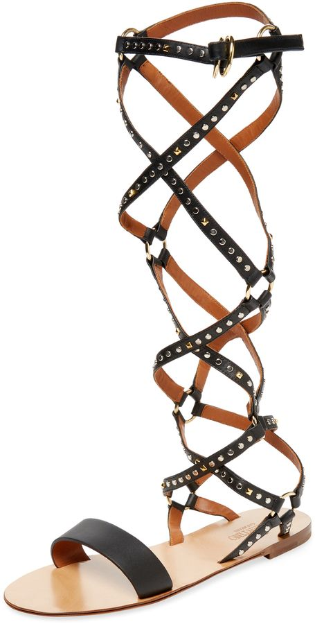 Valentino Women's Leather Gladiator Sandal