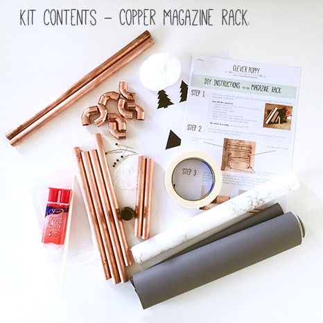 DIY Kit: Copper Magazine Rack. Everything you need to create this beauty