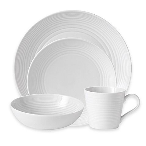 Transform your table with contemporary White Maze Dinnerware from world-renowned chef Gordon Ramsay and Royal Doulton. Maze boasts a simple, sophisticated look crafted in durable stoneware that is perfect for everyday dining and casual entertaining.