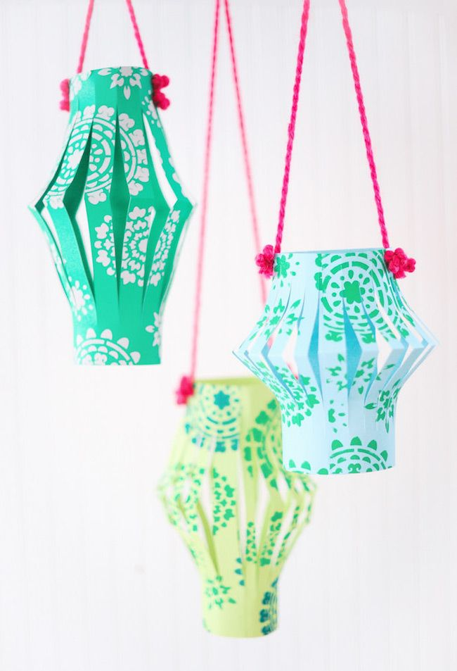 Chinese lanterns - I used to LOVE making these! Great kids activity!