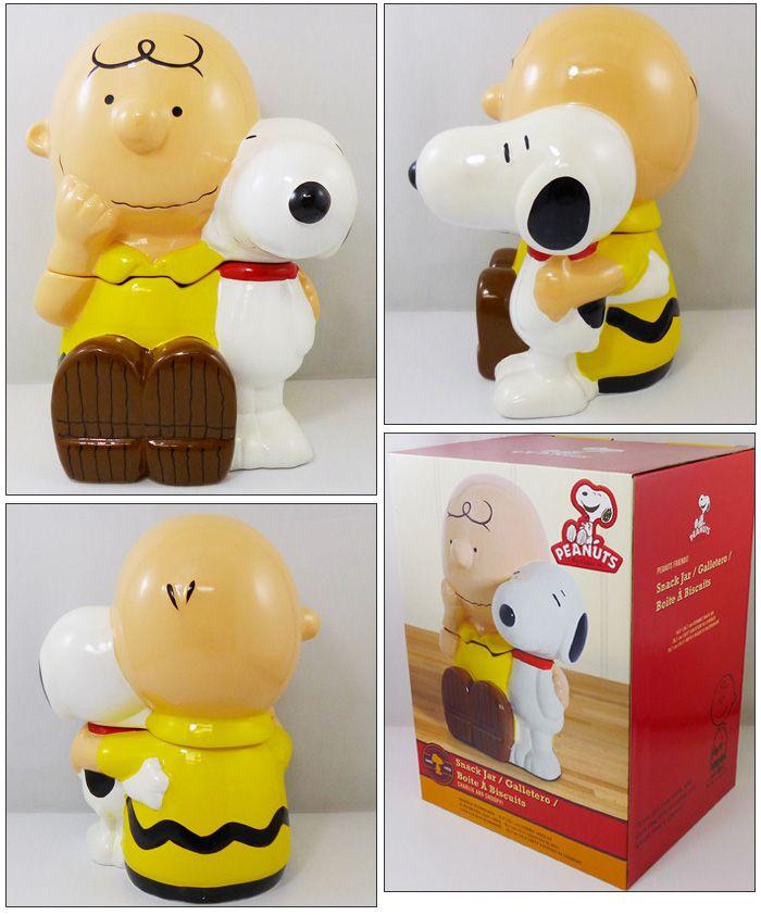 【ピーナッツ PEANUTS】セラミック クッキージャー 『チャーリーブラウン&スヌーピー』