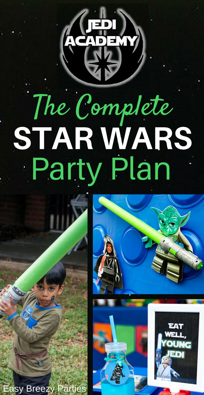 The Complete Star Wars Party Plan tells you everything you need to know - decorations, party food, how to run a Jedi training academy - and comes with a complete set of Star Wars party printables. Download at https://www.etsy.com/listing/270064427/star-wars-complete-party-plan-decoration?ref=listing-shop-header-1