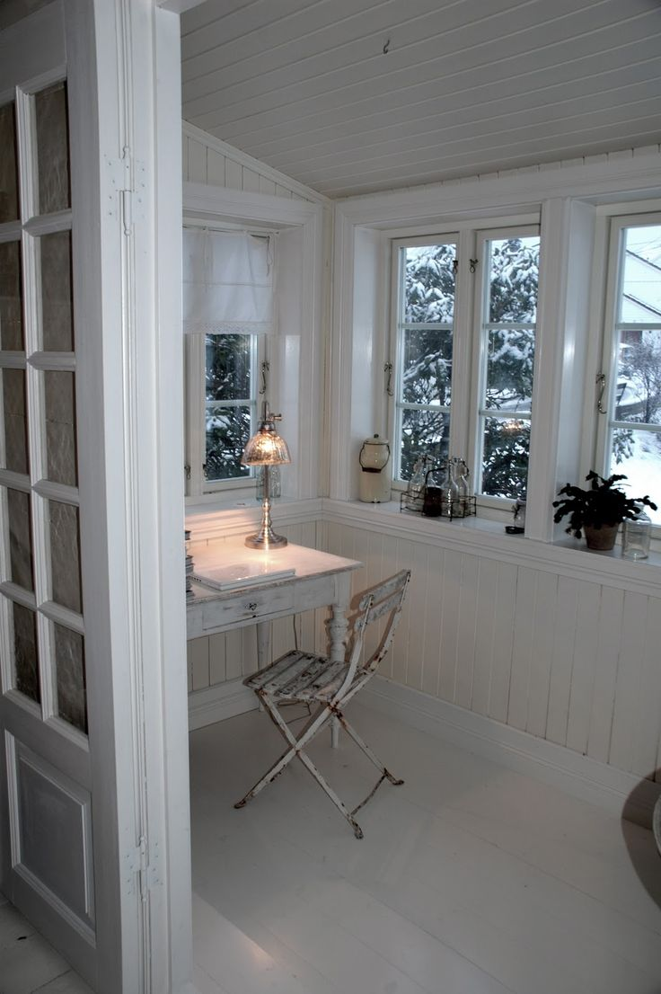 Frøken Jægers hus. I love this simple writing space.