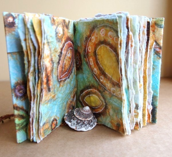 Helen Shafer Garcia taught this Crinkly Book class here in Oct. 2012.