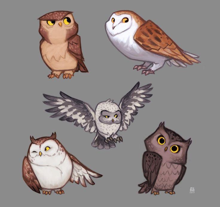 Owls, Patri Balanovsky on ArtStation at https://www.artstation.com/artwork/zn2oD?utm_campaign=digest&utm_medium=email&utm_source=email_digest_mailer