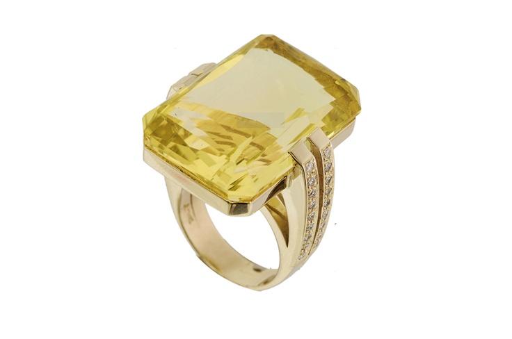 Yellow gold ring   www.topiaryandashe.com