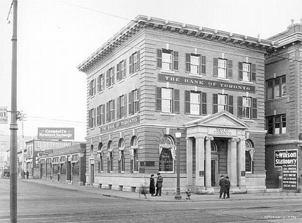Bank of Toronto, 10038-Jasper Ave., 1920.