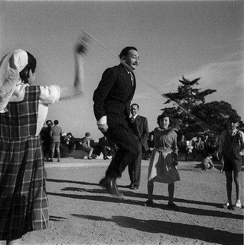 Dalí jumping rope.