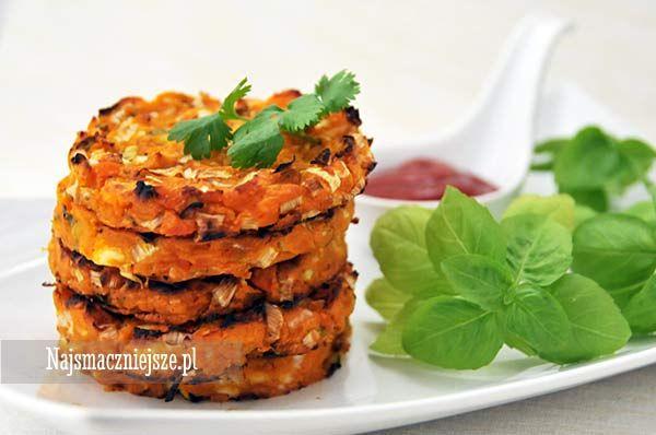 Placki ze słodkich ziemniaków, placki ziemniaczane, placki z marchewki, placki z porem, http://najsmaczniejsze.pl #food