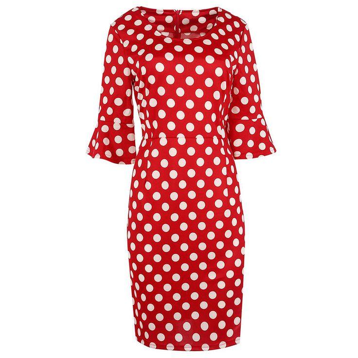 Ready to ship: Chicloth Blurred .... http://chicloth.com/products/chicloth-blurred-polka-dot-half-sleeve-dress?utm_campaign=social_autopilot&utm_source=pin&utm_medium=pin