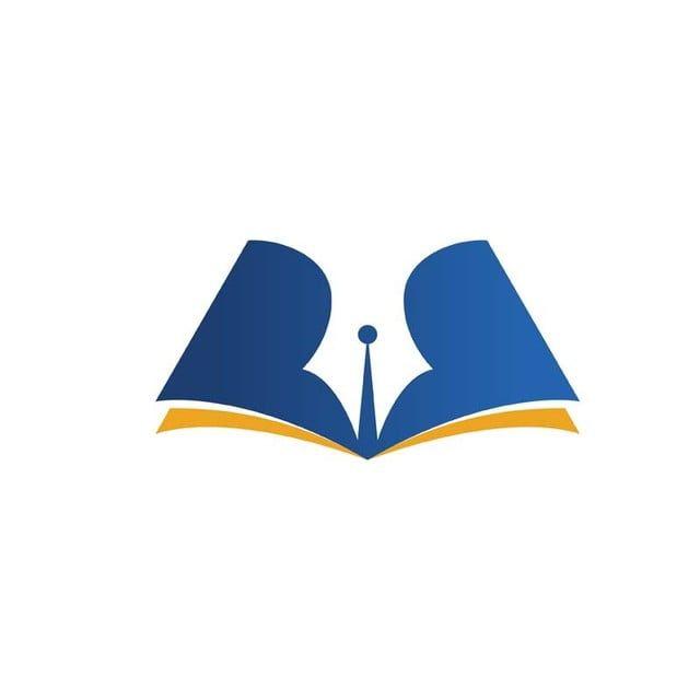 Pluma Azul Y Logotipo De Simbolo De Educacion Teacher Logo Education Logo Design Education Logo
