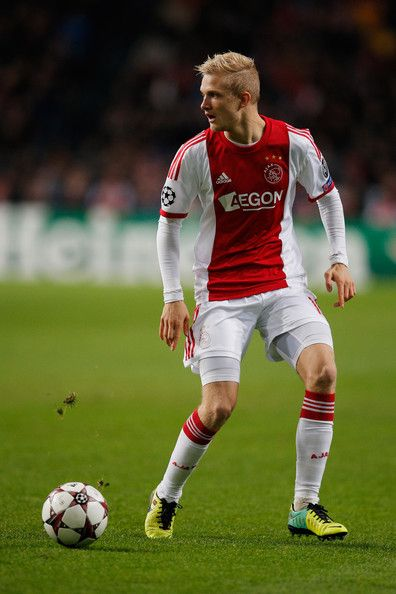 Nicolai Boilesen of Ajax in action during the UEFA Champions League Group H match between Ajax Amsterdam and FC Barcelona at Amsterdam Arena on November 26, 2013 in Amsterdam, Netherlands.