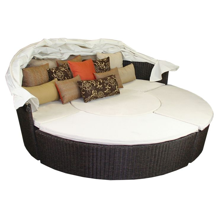 Comfortable Outdoor Daybed Round Patio World Inspiring Furniture Designs As Well As Mosaic Patio Table And Hampton Bay Patio Furniture of Interesting And Affordable Round Patio Table Sets For Contemporary Exterior Decorations Style from Exterior Ideas