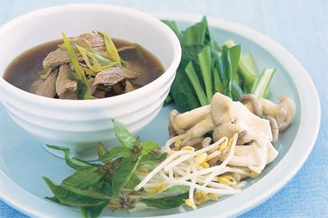 Mouth-watering Asian flavours spring to life in this low-fat Asian beef broth.