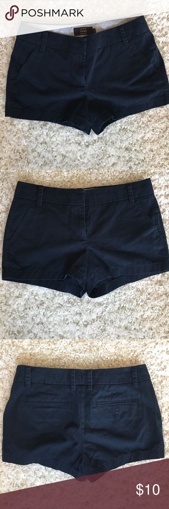 J. Crew navy blue chino shorts J. Crew navy blue chino shorts in size 4. J. Crew Shorts