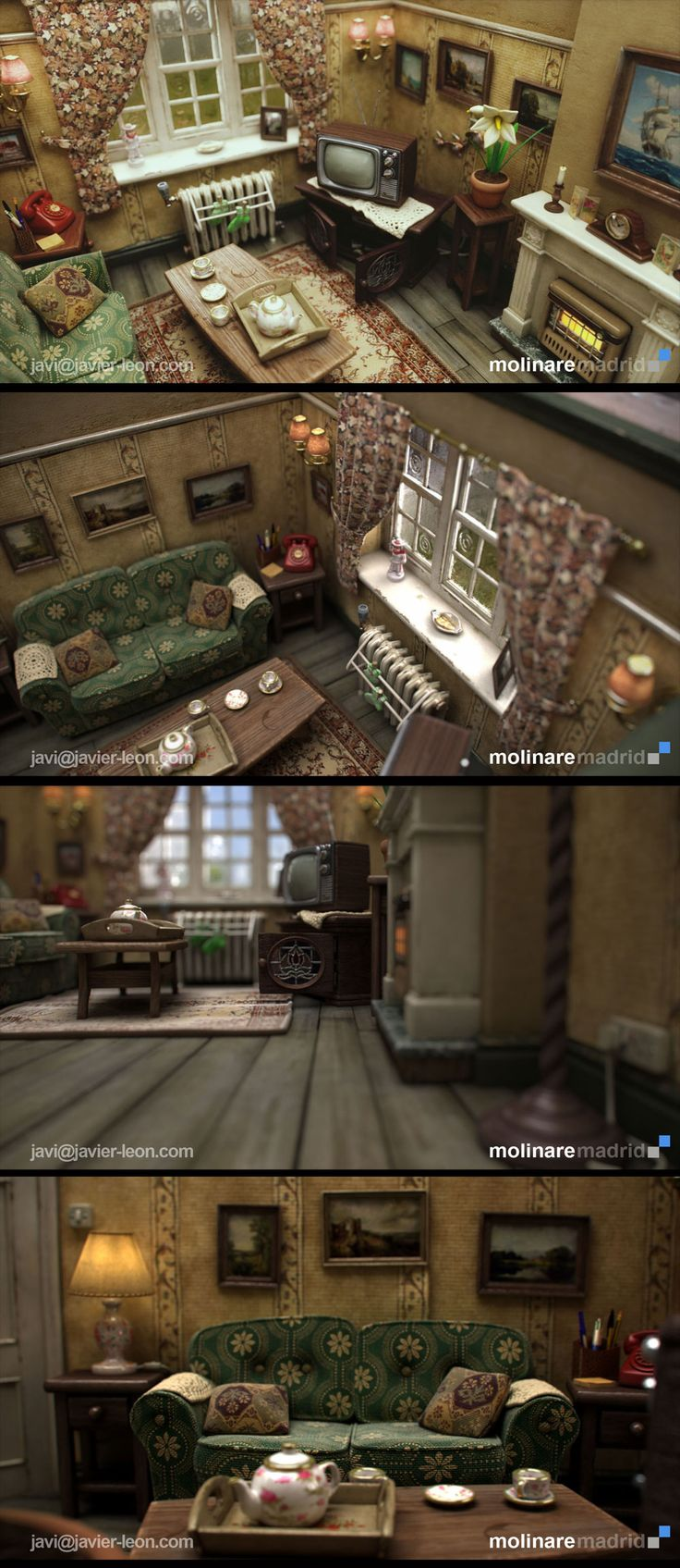 Stopmotion Set (CG) by Javier Leon 1000px X 2303px