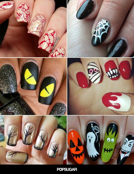 Pin for Later: 101 schaurig-schöne Halloween Nageldesigns