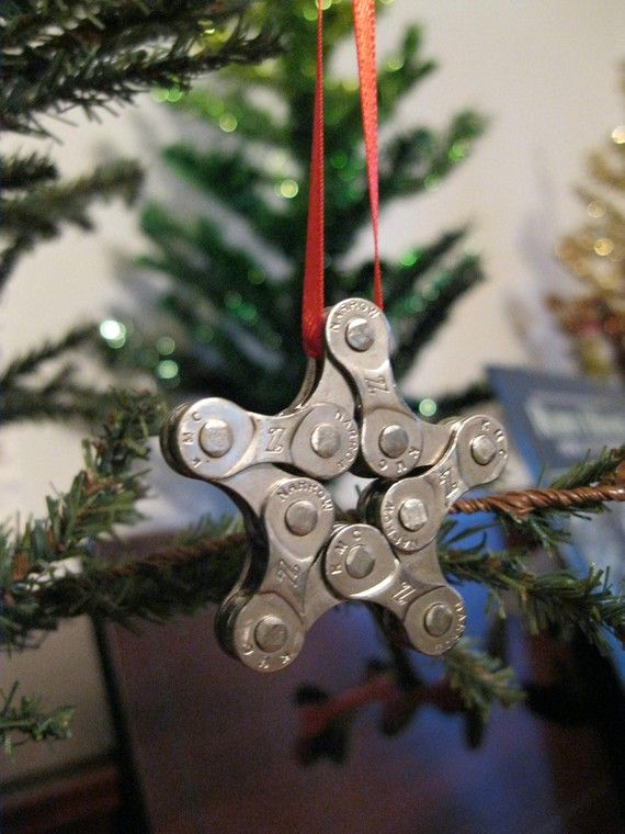 what a great way to use old bike chain