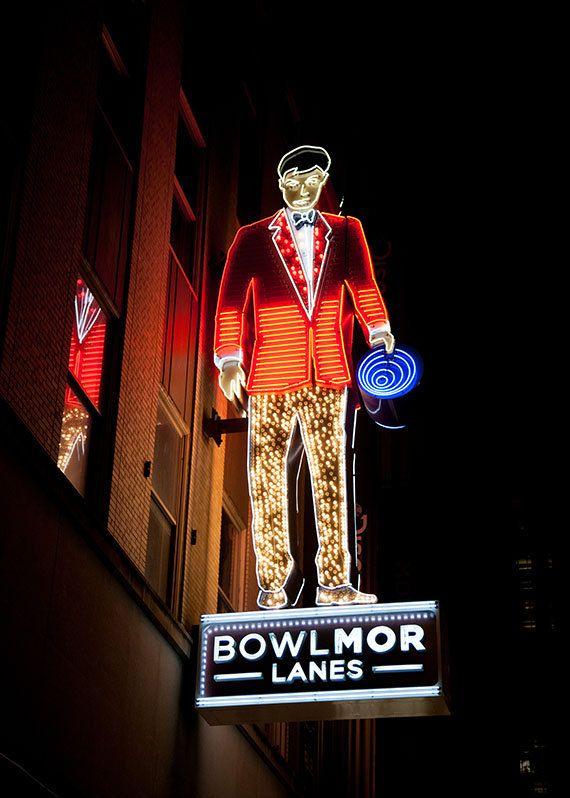 Neon  Bowlmor Lanes Bowling sign New York by pixamatic
