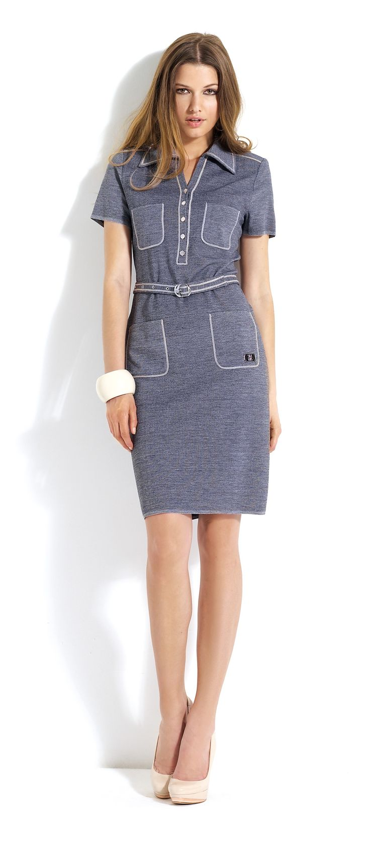 Vestido tejano con bolsillos #dress #jeans #pockets